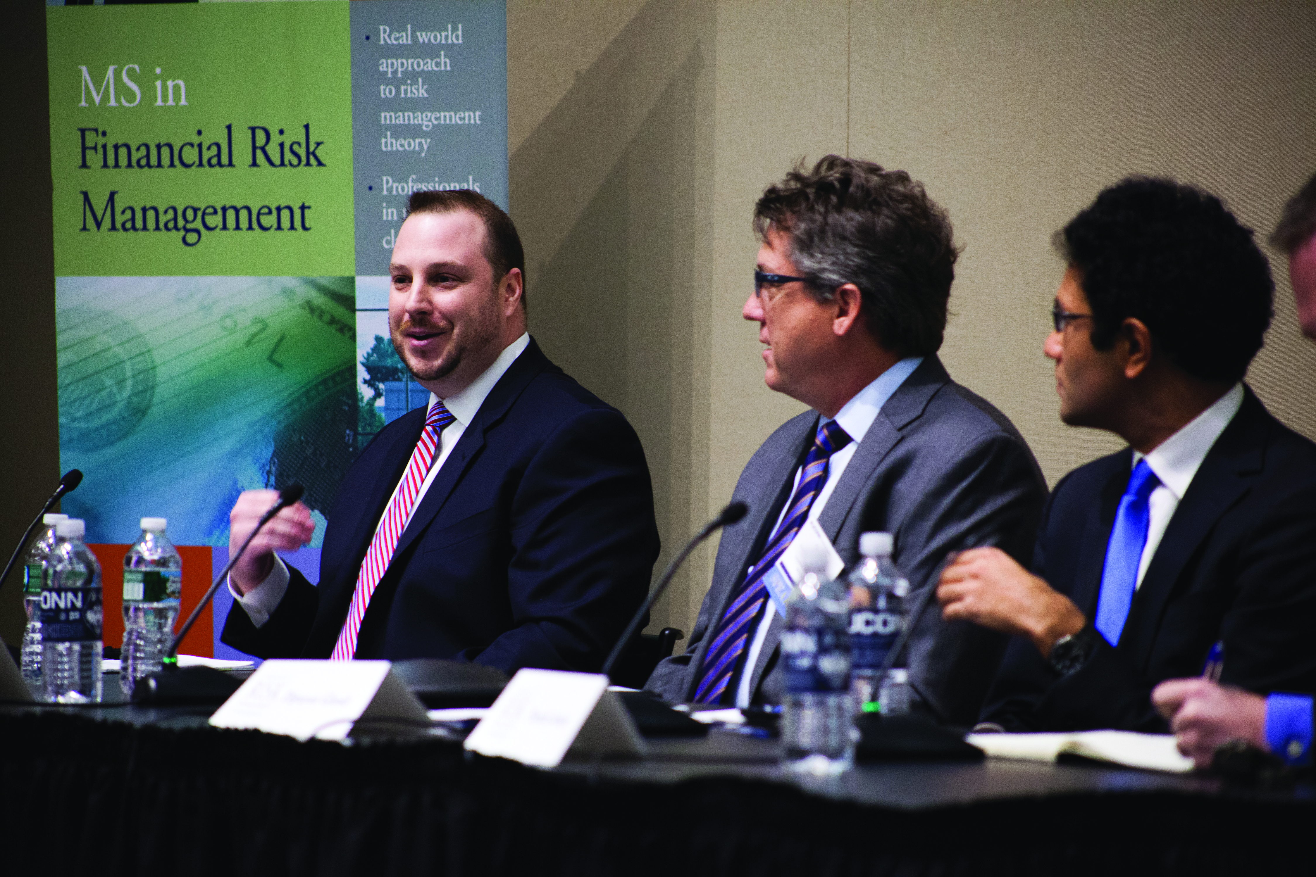 SVP Chief Risk and Chief Credit Officer John Bonora of First County Bank speaks on a panel at the 2015 Connecticut Risk Management Conference, which brings together industry professionals and faculty experts to discuss various aspects of risk.