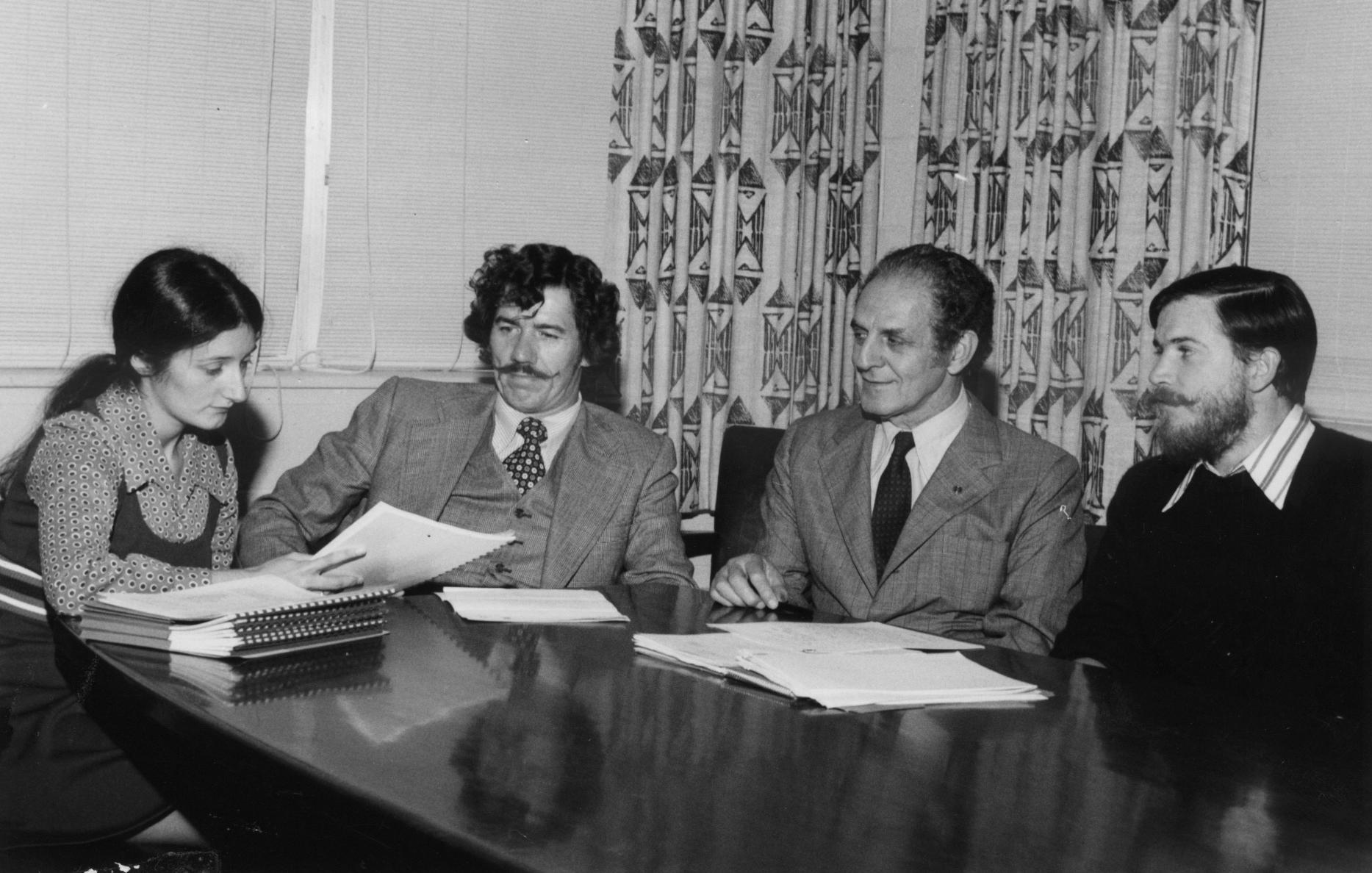 Real estate intern meeting, 1974.